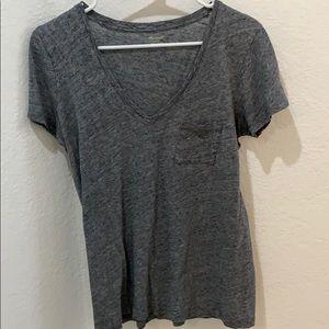 Madewell whisper cotton V-neck pocket T-shirt